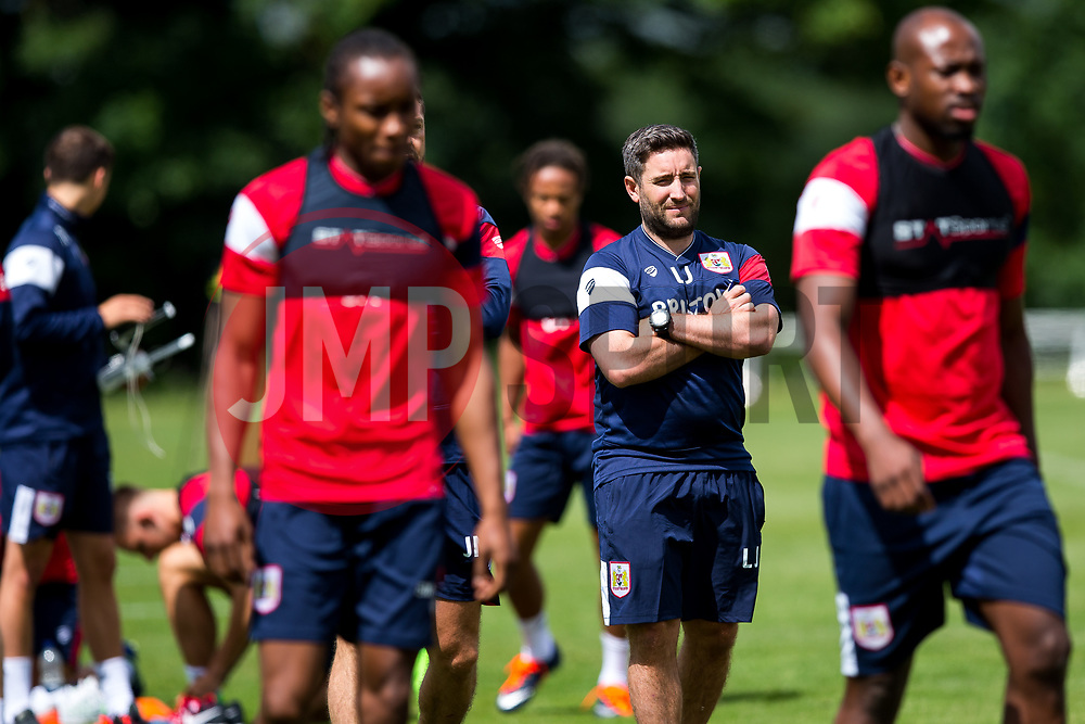 Head Coach Lee Johnson looks on as Bristol City return for pre-season training ahead of the 2017/18 Sky Bet Championship Season - Rogan/JMP - 30/06/2017 - Failand Training Ground - Bristol, England - Bristol City Training.