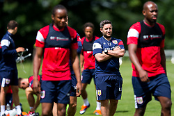Head Coach Lee Johnson looks on as Bristol City return for pre-season training ahead of the 2017/18 Sky Bet Championship Season - Rogan/JMP - 30/06/2017 - Failand Training Ground - Bristol, England - Bristol City Training.