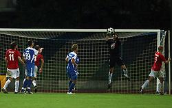 Goalkeeper of Rudar Boban Savic  at 3rd Round of PrvaLiga Telekom Slovenije between NK HIT Gorica vs NK Rudar Velenje, on August 1, 2008, in Nova Gorica, Slovenija. Rudar won the match 2:0. (Photo by Vid Ponikvar / Sportal Images)