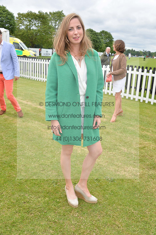 ROSE FARQUHAR  at the Cartier Queen's Cup Final polo held at Guards Polo Club, Smith's Lawn, Windsor Great Park, Egham, Surrey on 15th June 2014.