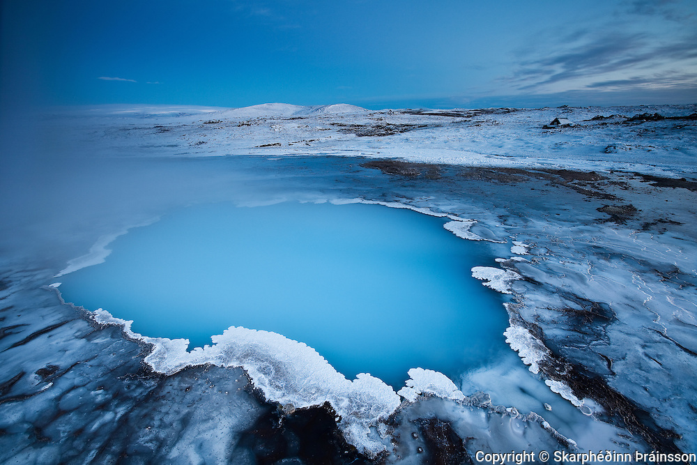 Blue Pool / Bláhver in Hveravellir, central highlands Iceland