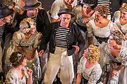 Matinee performance of Ruddigore performed by during the National Gilbert &amp; Sullivan Opera Company in Buxton Opera House Buxton, England on Sunday 05 August 2018 Photo: Jane Stokes<br /> <br /> DIRECTOR/Vivian Coates<br /> CONDUCTOR/James Hendry<br /> CHOREOGRAPHER/Mary McDonagh<br /> <br /> CAST<br /> SIR RUTHVEN MURGATROYD (Robin Oakapple)/Bradley Travis<br /> RICHARD DAUNTLESS/David Menezes<br /> SIR DESPARD MURGATROYD/Matthew Siveter<br /> OLD ADAM GOODHEART/Stephen Godward<br /> ROSE MAYBUD/Rosanna Harris<br /> MAD MARGARET/Mae Hendorn<br /> DAME HANNAH/Gaynor Keeble<br /> ZORAH/Juliet Montgomery<br /> RUTH/Alexandra Hazard<br /> SIR RODERIC MURGATROYD/Steven Page<br /> <br /> THE CHORUS<br /> Hannah Boxall, Nicole Boardman, Rhiannon Doogan, Joanna Goldspink, Maisy Hepburn, Jennifer Parker, Julie Power, Stephanie Poropat, Eloise Waterhouse, Emma Watkinson<br /> <br /> Tom Blackwell, Andrew Brown, Peter Brooks, Stephen Fawell, Matthew Kellett, Michael Vincent Jones, Henry Smith, Jonathan Stevens, Tim Southgate<br /> <br /> PRODUCTION TEAM<br /> <br /> TOUR MANAGER/Neil Smith<br /> STAGE MANAGER/Sarah Kent<br /> ASSISTANT STAGE MANAGER/Claire Litton<br /> LIGHTING DESIGN/David Marsden<br /> WARDROBE SUPERVISOR/ David Morgan<br /> SET DESIGN/ Tin Shed Scenery<br /> REPETITEUR/Erica Gundesen