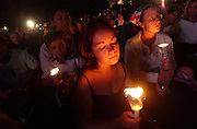 Dianne Terrusa and others attend the candle light vigil and concert at the Great Lawn in Central Park in Manhattan, NY. 9/11/2002 Photo by Jennifer S. Altman
