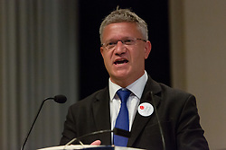 "© Licensed to London News Pictures. 14/06/2016. LONDON, UK.  MP for Romford, ANDREW ROSINDELL speaking at the Bruges Group European referendum Brexit event in favour of ""Leave"" on 13th June 2016. The Brexit event, was led by Lord David Owen who warned of the dangers to global stability posed by the EU withdrawing its support for NATO and committing to a European Defence Force. Owen called for a greater European commitment to NATO and the one billion euro budget of the EU's European External Action Service to be immediately transferred to NATO.  Photo credit: Vickie Flores/LNP"