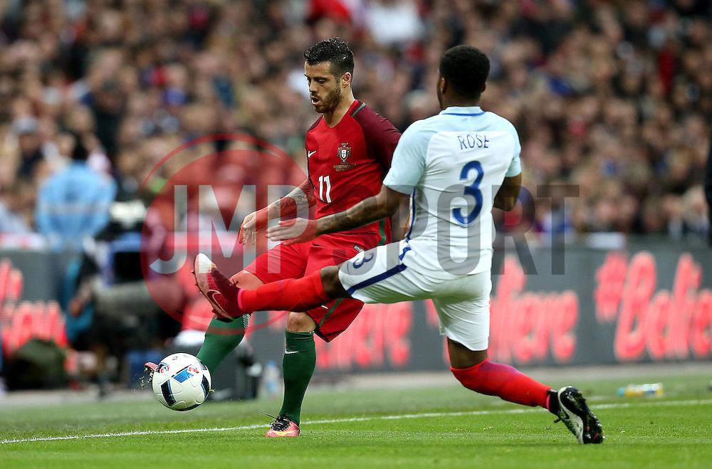 Vieirinha of Portugal passes the ball past Danny Rose of England - Mandatory by-line: Robbie Stephenson/JMP - 02/06/2016 - FOOTBALL - Wembley Stadium - London, United Kingdom - England v Portugal - International Friendly