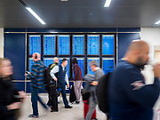 17 FEBRUARY 2020 - ATLANTA, GEORGIA:   Passengers check flight times and status in Atlanta's Hartsfield–Jackson Atlanta International Airport, the world's busiest airport by passenger count.  PHOTO BY JACK KURTZ