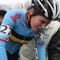 Sanne Cant na haar bronzen wedstirjd op het WK in Koksijde