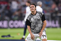 FUSSBALL UEFA Nations League in Muenchen Deutschland - Frankreich       06.09.2018 Nico Schulz (Deutschland) beim Dehnen  --- DFB regulations prohibit any use of photographs as image sequences and/or quasi-video. ---