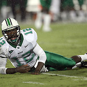 Marshall quarterback Rakeem Cato (12) looks at the ref during an NCAA football game between the Marshall Thundering Herd and the Central Florida Knights at Bright House Networks Stadium on Saturday, October 8, 2011 in Orlando, Florida. (Photo/Alex Menendez)
