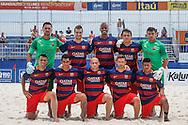 The Barcelona team have their photo taken at the Mundialito de Clubes in Rio de Janeiro. Foto: Marcello Zambrana/Divulgação