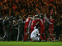 Photo: Jed Wee.<br /> Middlesbrough v FC Basle. UEFA Cup. Quarter-Final. 06/04/2006.<br /> <br /> Middlesbrough celebrate.