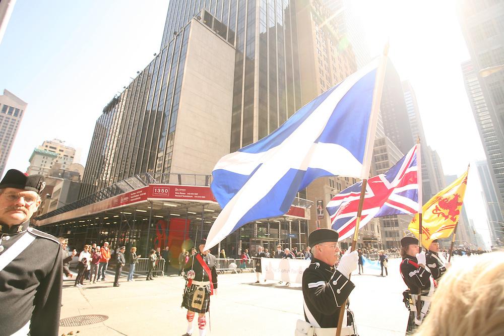 NEW YORK CITY - APRIL 9: Tartan Day Parade in New York City.