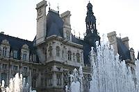 Fountains at Hotel de Ville, Paris, France<br />