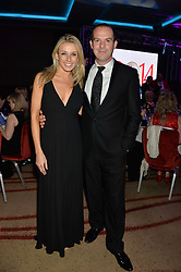 MARTIN LEWIS and his wife LARA LEWINGTON at the Soldiering On Awards held at the Park Plaza Hotel, Westminster Bridge, London on 5th April 2014.