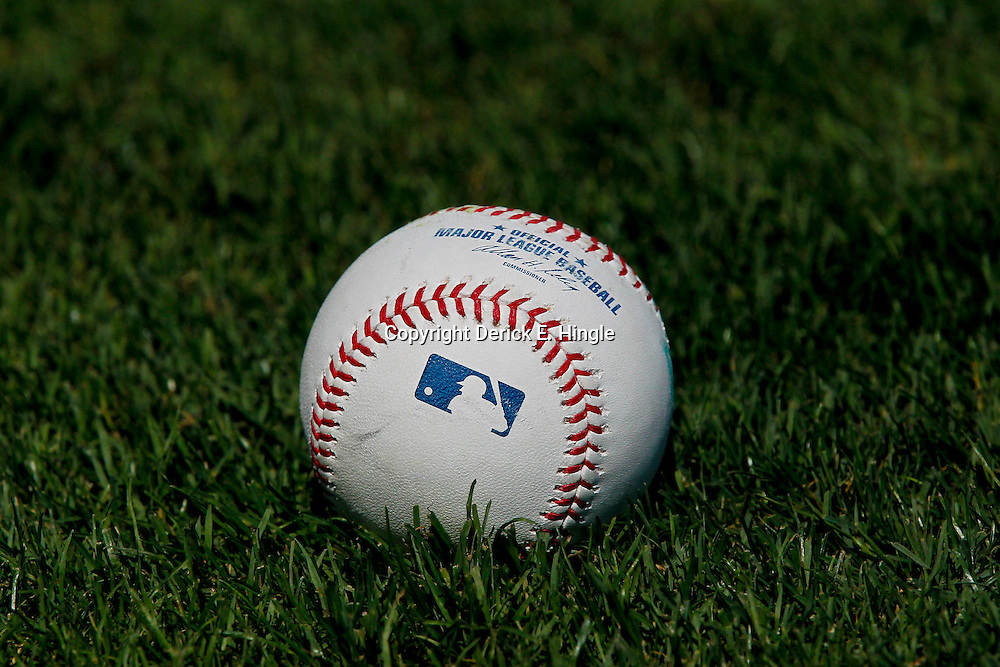 March 17, 2012; Lakeland, FL, USA; A detail of the baseball on the field before a spring training game between the Detroit Tigers and the St. Louis Cardinals at Joker Marchant Stadium. Mandatory Credit: Derick E. Hingle-US PRESSWIRE