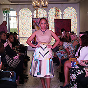 London England,UK: 17th September 2016: ULM Collective  from Tonga/New York showcases is latest collection at the  LFW S/S 2017 : The London Pacific Collective of A Pacific Fashion Show host by London Pacific Fashion Ltd at Grand Connaught Rooms Rooftop in London. Photo by See Li