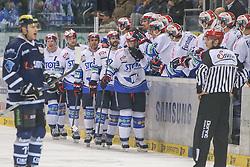 16.01.2015, Saturn Arena, Ingolstadt, GER, DEL, ERC Ingolstadt vs Schwenninger Wild Wings, 39. Runde, im Bild Sascha Goc (Nr.7, Schwenninger Wild Wings) trifft zum 1:0 // during Germans DEL Icehockey League 39th round match between ERC Ingolstadt and Schwenninger Wild Wings at the Saturn Arena in Ingolstadt, Germany on 2015/01/16. EXPA Pictures © 2015, PhotoCredit: EXPA/ Eibner-Pressefoto/ Strisch<br /> <br /> *****ATTENTION - OUT of GER*****