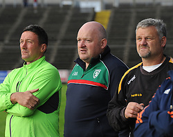 Louisburgh manager John Kelly (centre) alongside selectors Padraic O&rsquo;Malley and John Prendergast. <br /> Pic Conor McKeown