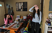 Bennington, VT -  Thursday, Jan. 30, 2014:   Recovering addicts Hailey Clark, 20, left, and Stacey Brandmeyer, 22, right, in the kitchen area of Branmeyer's public housing apartment.  Clark was arrested in the state's largest drug sweep. <br />   <br /> Gov. Peter Shumlin devoted his entire state of the state address in January to what he called a &quot;full-blown heroin crisis&quot; in Vermont, where twice as many people died of heroin overdoses in 2012 as in the year before. Mr. Shumlin's address focused new attention on the problem, which has hit every corner of the state.  <br /> <br /> CREDIT: Cheryl Senter for The New York Times