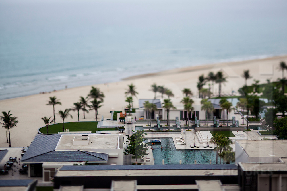 A bird's eye view of the Hyatt Regency Danang, Vietnam, Southeast Asia