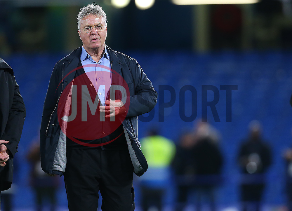 Newly appointed Chelsea Manager, Guus Hiddink - Mandatory byline: Paul Terry/JMP - 07966 386802 - 19/12/2015 - FOOTBALL - Stamford Bridge - London, England - Chelsea v Sunderland - Barclays Premier League