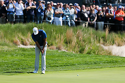 May 16, 2019 - Bethpage, New York, United States - Tiger Woods putts the 17th green during the first round of the 101st PGA Championship at Bethpage Black. (Credit Image: © Debby Wong/ZUMA Wire)