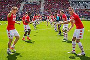 ALKMAAR - 26-06-2016, eerste training AZ, AFAS Stadion, AZ speler Guus Hupperts, AZ speler Robert Muhren.
