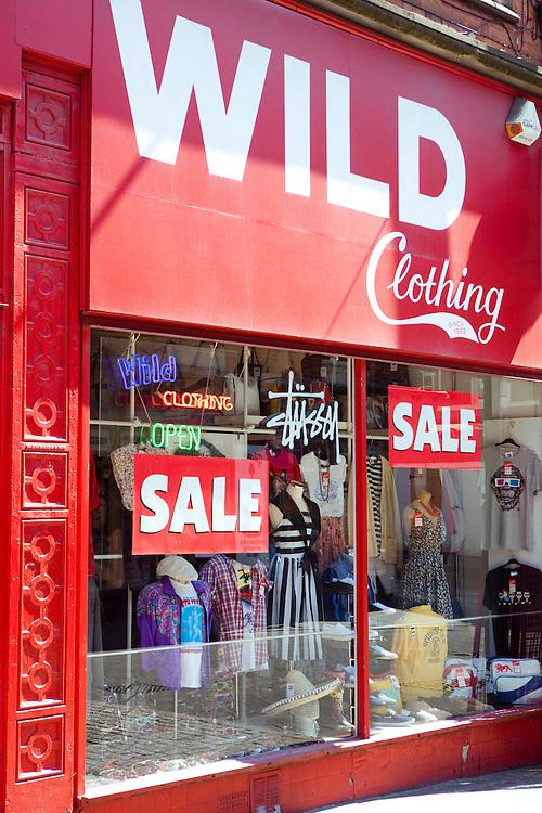 Wild, Vintage Clothing Shop. Nottingham