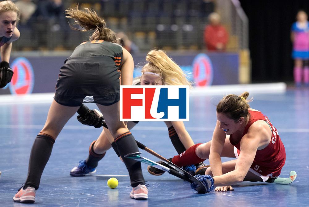 BERLIN - Indoor Hockey World Cup<br /> Women: Netherlands - United States<br /> foto: CAMPBELL Ali.<br /> WORLDSPORTPICS COPYRIGHT FRANK UIJLENBROEK