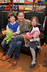 SHIRIN AKSU and her children CELINE and ALP at the 4th birthday party for Amadeus Becker, son of Boris & Lilly Becker held at Ralph Lauren, 143 New Bond Street, London on 9th February 2014.