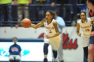 Ole Miss' A'Queen Hayes (3) vs. Tennessee Martin Skyhawks in a WNIT game in Oxford Miss. on Wednesday, March 18, 2015.  (AP Photo/Oxford Eagle, Bruce Newman)