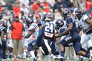 Quarterback Kendrick Doss (3) at Mississippi's Grove Bowl controlled scrimmage at Vaught-Hemingway Stadium in Oxford, Miss. on Saturday, April 5, 2014.