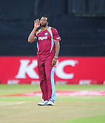 Kieron Pollard , West Indies during the 2015 KFC T20 International Series cricket match between South Africa and West Indies at the Kingsmead Stadium in Durban on the 14th of January 2015<br /> <br /> ©Sabelo Mngoma/BackpagePix