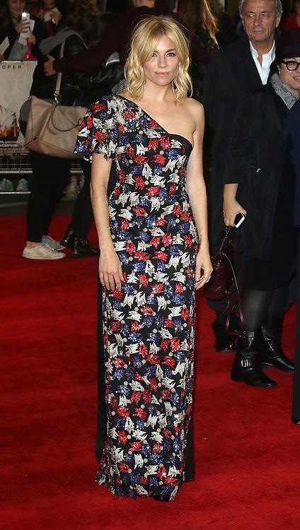 October 28, 2015 -Sienna Miller attending 'Burnt' European Premiere at Vue West End, Leicester Square in London, UK.<br /> ©Exclusivepix Media
