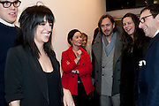JENNIFER RUBELL; MARC NEWSON; CHARLOTTE STOCKDALE; 'Engagement' exhibition of work by Jennifer Rubell. Stephen Friedman Gallery. London. 7 February 2011. -DO NOT ARCHIVE-© Copyright Photograph by Dafydd Jones. 248 Clapham Rd. London SW9 0PZ. Tel 0207 820 0771. www.dafjones.com.