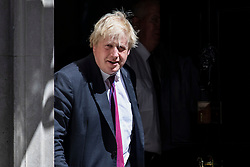 © Licensed to London News Pictures. 26/06/2018. London, UK. Foreign Secretary Boris Johnson leaves 10 Downing Street after the Cabinet meeting. Photo credit: Rob Pinney/LNP