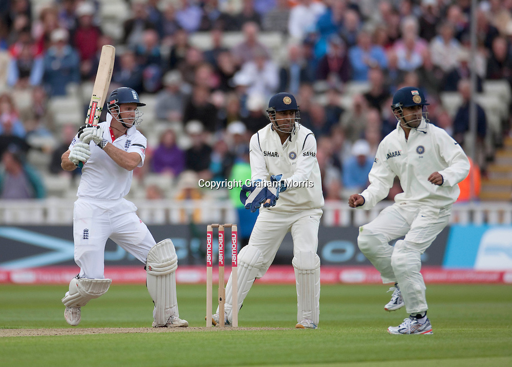 Andrew Strauss bats during the third npower Test Match between England and India at Edgbaston, Birmingham.  Photo: Graham Morris (Tel: +44(0)20 8969 4192 Email: sales@cricketpix.com) 10/08/11