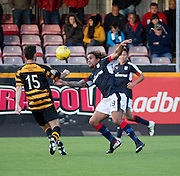 Dundee&rsquo;s Yordi Teijsse takes on Alloa Athletic&rsquo;s Ross McKinnon- Alloa Athletic v Dundee, pre-season friendly at Recreation Park, Alloa<br /> <br />  - &copy; David Young - www.davidyoungphoto.co.uk - email: davidyoungphoto@gmail.com