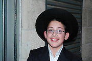 Israel, Jerusalem, a portrait of a young Jewish boy