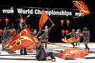 Spectrum of Binghamton, New York performs during the Open Class Finals of the 35th WGI Color Guard World Championships at UD Arena in Dayton, Saturday, April 14, 2012.