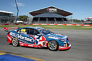 Craig Lowndes (Team VOrtex Holden). 2016 Clipsal 500 Adelaide. V8 Supercars Championship Round 1. Adelaide Street Circuit, South Australia. Friday 4 March 2016. Photo: Clay Cross / photosport.nz