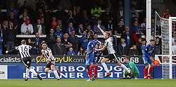Ian Henderson of Rochdale (second left) celebrates scoring his goal with team-mates Calvin Andrew and Mark Kitching - Mandatory by-line: Joe Dent/JMP - 14/04/2018 - FOOTBALL - ABAX Stadium - Peterborough, England - Peterborough United v Rochdale - Sky Bet League One