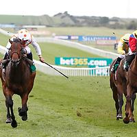 Trojan Rocket and M Barzalona winning the 2.40 race