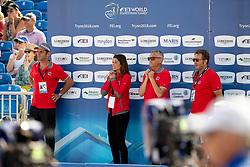 Team Switserland, Werner Muff, Skalli Fanny, Andy Kistler<br /> World Equestrian Games - Tryon 2018<br /> © Hippo Foto - Dirk Caremans<br /> 23/09/2018