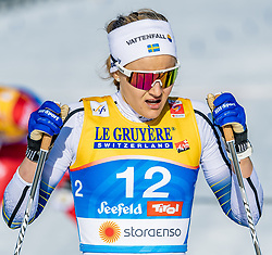 21.02.2019, Langlauf Arena, Seefeld, AUT, FIS Weltmeisterschaften Ski Nordisch, Seefeld 2019, Langlauf, Damen, Sprint, im Bild Stina Nilsson (SWE) // Stina Nilsson of Sweden during the ladie's Sprint competition of the FIS Nordic Ski World Championships 2019. Langlauf Arena in Seefeld, Austria on 2019/02/21. EXPA Pictures © 2019, PhotoCredit: EXPA/ Stefan Adelsberger