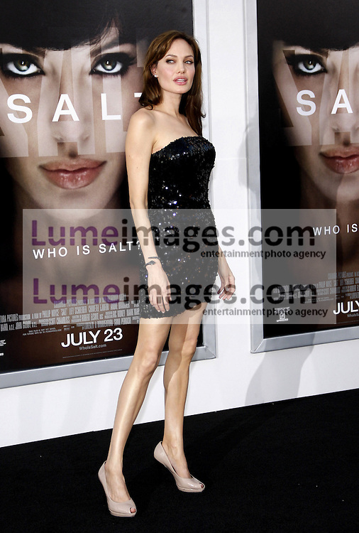 """Angelina Jolie at the Los Angeles premiere of 'Salt"""" held at the Grauman's Chinese Theatre in Hollywood on July 19, 2010. Credit: Lumeimages.com"""