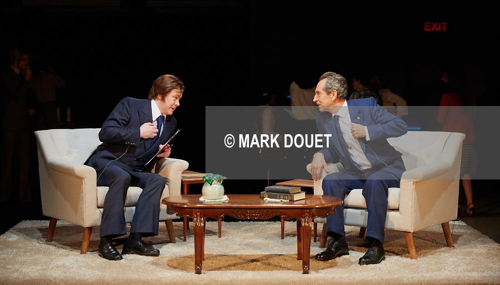 Frost/Nixon at Sheffield Theatres. Director Kate Hewitt. Designer Ben Stones. Lighting<br /> Charles Balfour. Andrzej Goulding Video Designer