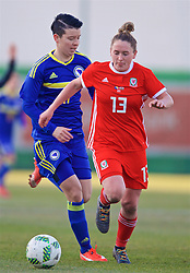 ZENICA, BOSNIA AND HERZEGOVINA - Tuesday, November 28, 2017: Wales' Rachel Rowe during the FIFA Women's World Cup 2019 Qualifying Round Group 1 match between Bosnia and Herzegovina and Wales at the FF BH Football Training Centre. (Pic by David Rawcliffe/Propaganda)