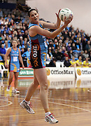 Donna Wilkins controls the ball.<br /> ANZ Championship - Steel v Pulse, 28 May 2012, The Edgar Centre, Dunedin, New Zealand.<br /> Photo: Rob Jefferies / photosport.co.nz