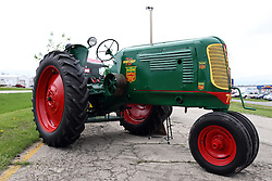04 May 2013:   Arranged to coincide and be a part of the Red Corridor Route 66 festival, the village of Lexington hosts an antique tractor show.  Roger Whaley is the chairman of the organizing committee. 1943 Oliver 70.